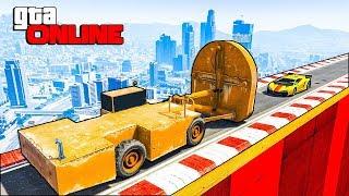 Гонки в GTA 5 Online ! Как это пройти ?? Скиллтест со встречным движением!
