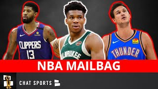 Nba rumors discussed on now:, - will the bucks trade giannis?, should wizards sign a third star?, jazz let jordan clarkson leave?, steven adams to mavs?, paul george ...