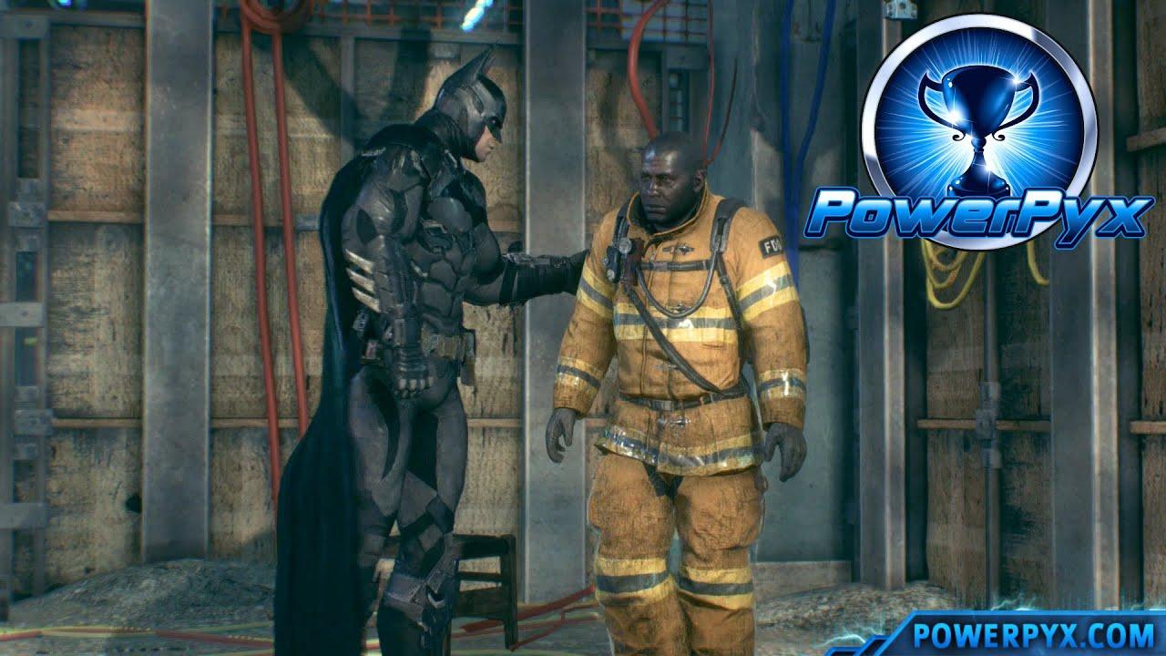 Batman Arkham Knight - The Line of Duty Side Mission Walkthrough  (Firefighter Locations)
