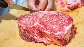 Japanese Steak - THICK WAGYU BEEF at Shima Steak (西洋料理 島) - Best of Tokyo Food Tour!