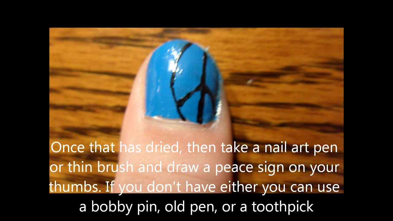 Peace Sign Nails - YouTube