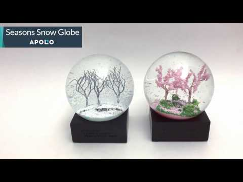 Four season snow globe - Nature's Dance