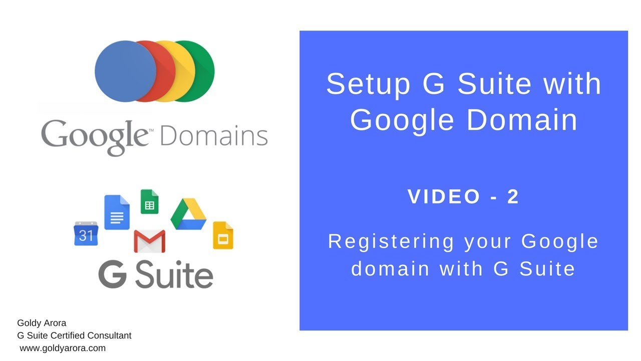 How To Register G Suite With Google Domain Youtube