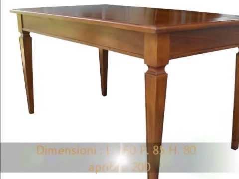 Produzione artigianale su misura tavolo tavoli classici for Tavoli classici allungabili