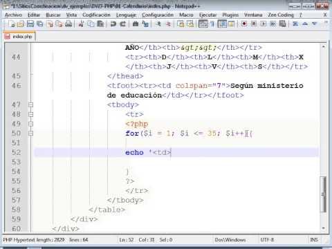 Html Calendario.Diseno Web Php Calendario 01