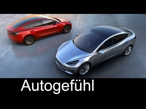 Tesla Model 3 premiere REVEAL with Elon Musk Exterior/Facts/Preview all-new neu #teslamodel3
