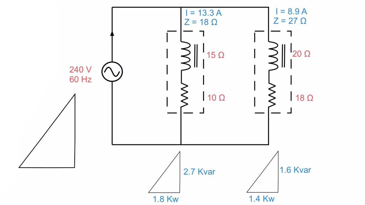 parallel rlc circuit  coils