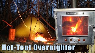 Hot Tent Bushcraft Camping - Tripod Tent Support & Pulled Pork