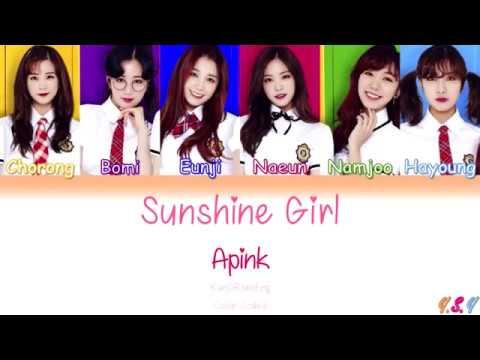 Apink (에이핑크) - Sunshine Girl [Kanji/Rom/Eng Lyrics]