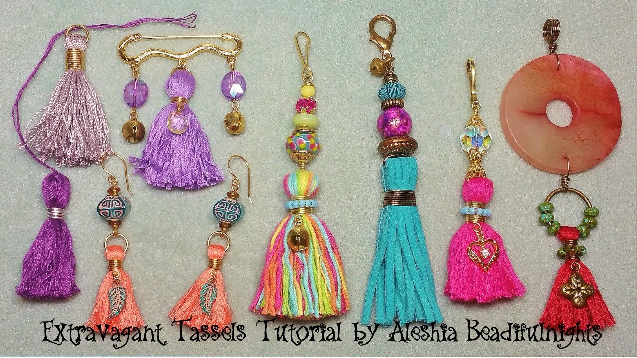Extravagant Tassels Tutorial - YouTube