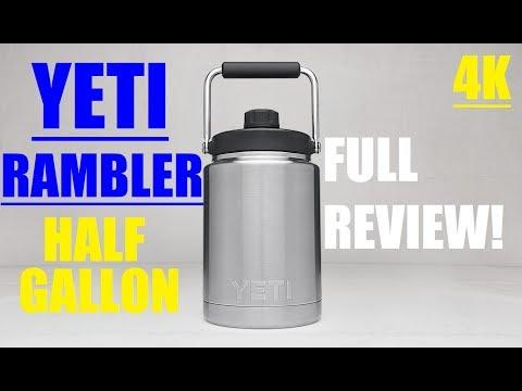 Yeti Rambler HALF GALLON JUG Review! 4K - YouTube