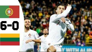 Pоrrtugаl vs Liithuаniiа 6 0   Highlights & Goals Resumen 2019 HD #Cristaino Ronaldo Hattrick