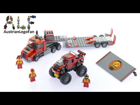 Lego City 60027 Monster Truck Transporter - Lego Speed Build Review