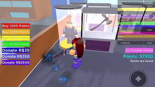 Playing super battle simulator on roblox (easy)