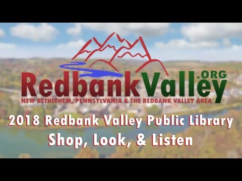Shop, Look, & Listen 2018 - Redbank Valley Public Library || New Bethlehem Pa