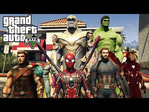 Avengers: Infinity War (THANOS, SPIDERMAN, CAPITÁN AMÉRICA) - GTA 5 MODS