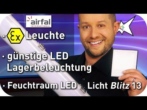 günstige LED Lagerbeleuchtung - Airfal EX Leuchte - Eiko LED Feuchtraumleuchte - Lichtblitz 13