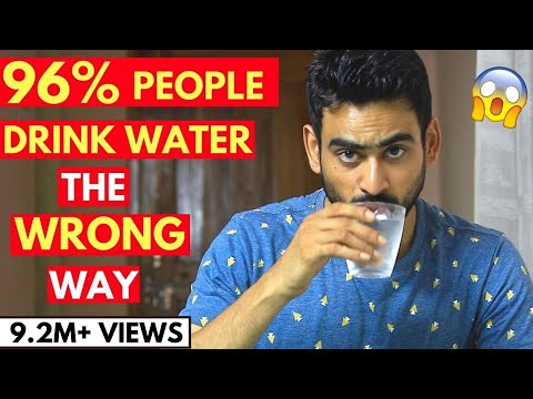 5 Reasons You Are Drinking Water The Wrong Way