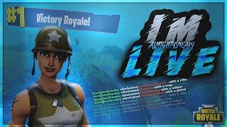 FORTNITE BATTLE ROYALE | #1 RANKED ON LEADERBOARD ~ 414 SOLO WINS ~ 8300+ KILLS SPONSOR GOAL 141/150