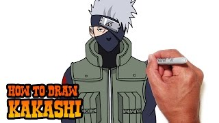 How to Draw Kakashi | Naruto Shippuden