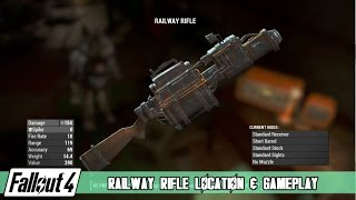 Fallout 4 - Railway Rifle Location and Gameplay