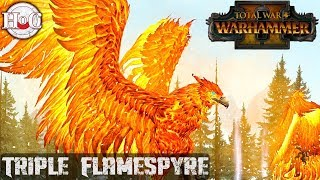 Triple Flamespyre - Total War Warhammer 2 - Online Battle 245