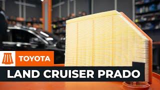 Tutorial: Como substituir a filtro de ar do motor noTOYOTA LAND CRUISER PRADO J150