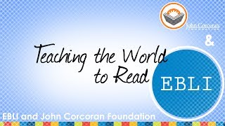 John Corcoran, The Teacher Who Couldn't Read, and Nora Chahbazi - A Partnership for Literacy
