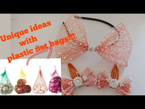 Cute Accessories Using Plastic Onion/fruit Net Bags | How To Make Useful Things From Fruit Net Bags
