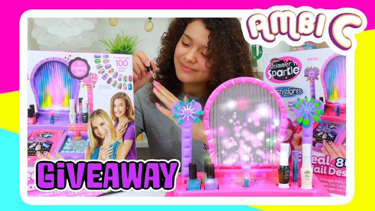 Nail set for girls cra z art shimmer n sparkle light up nail nail set for girls cra z art shimmer n sparkle light up nail design studio unboxing ambi c vlog ad prinsesfo Image collections