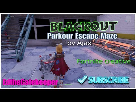 Blackout Escape maze puzzle Collect 10 Med Kits |Fortnite Creative Map by Ajax