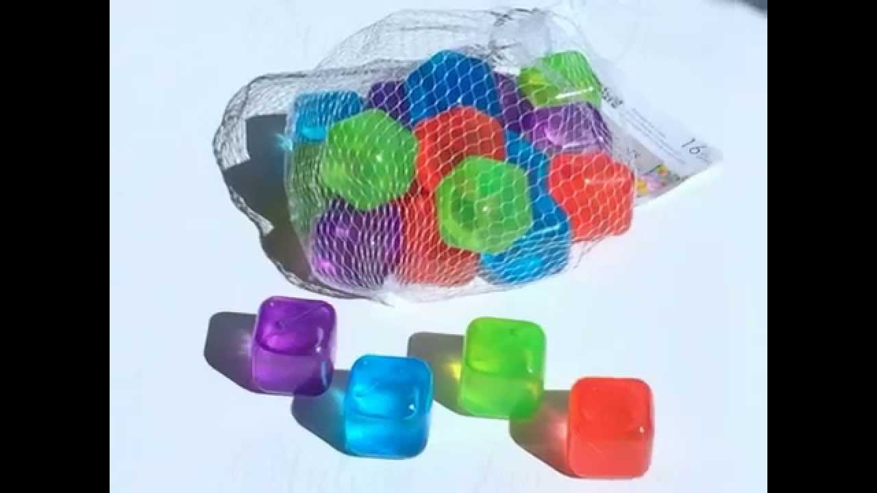 COLORFUL REUSABLE PLASTIC ICE CUBES - YouTube