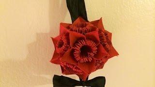 How To Make 3d Paper Flower Ball, 3d Origami, Handmade Ornament Gift/present | Romantic-idea.com