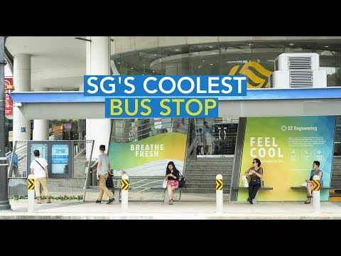 The coolest bus stop in Singapore