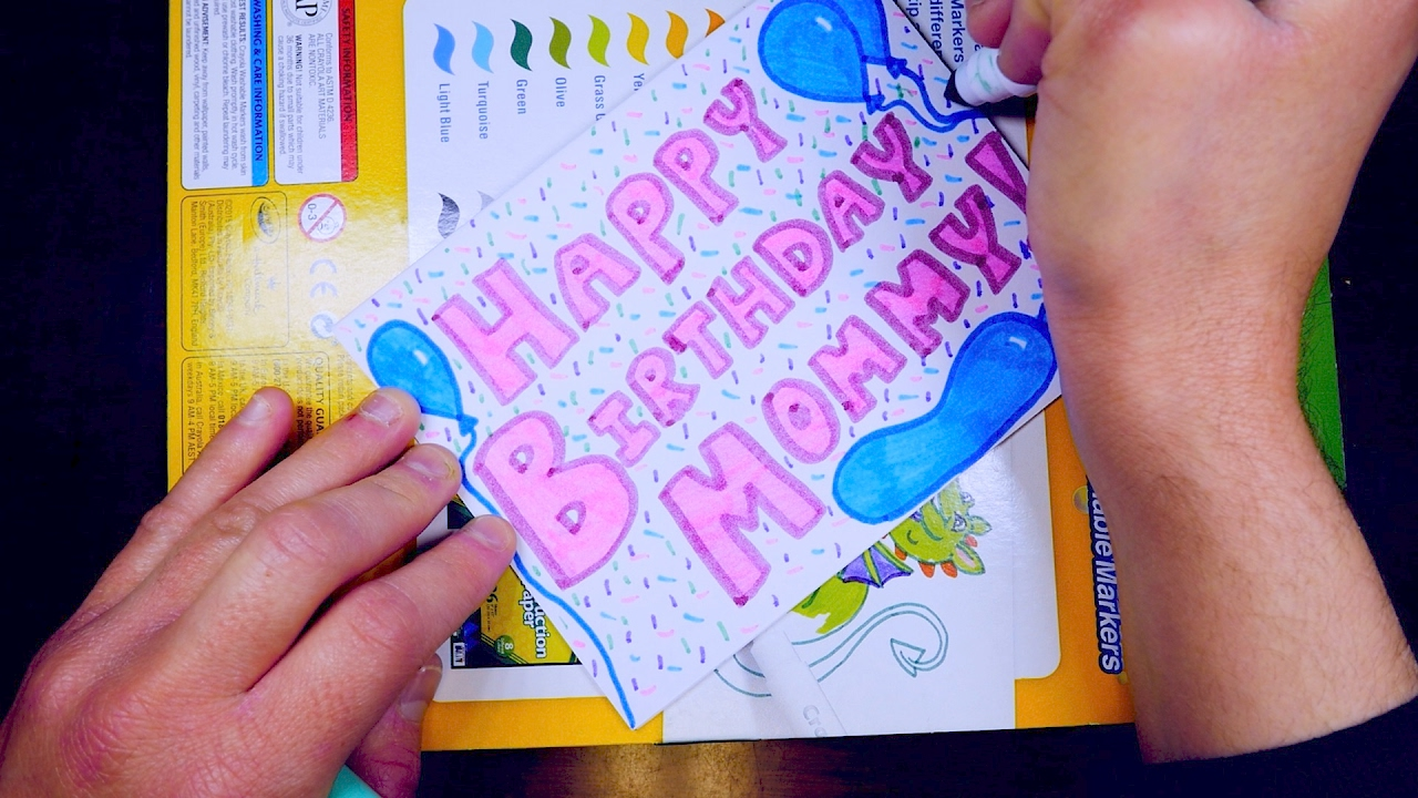 How To Draw A Birthday card – Video Birthday Cards for Kids