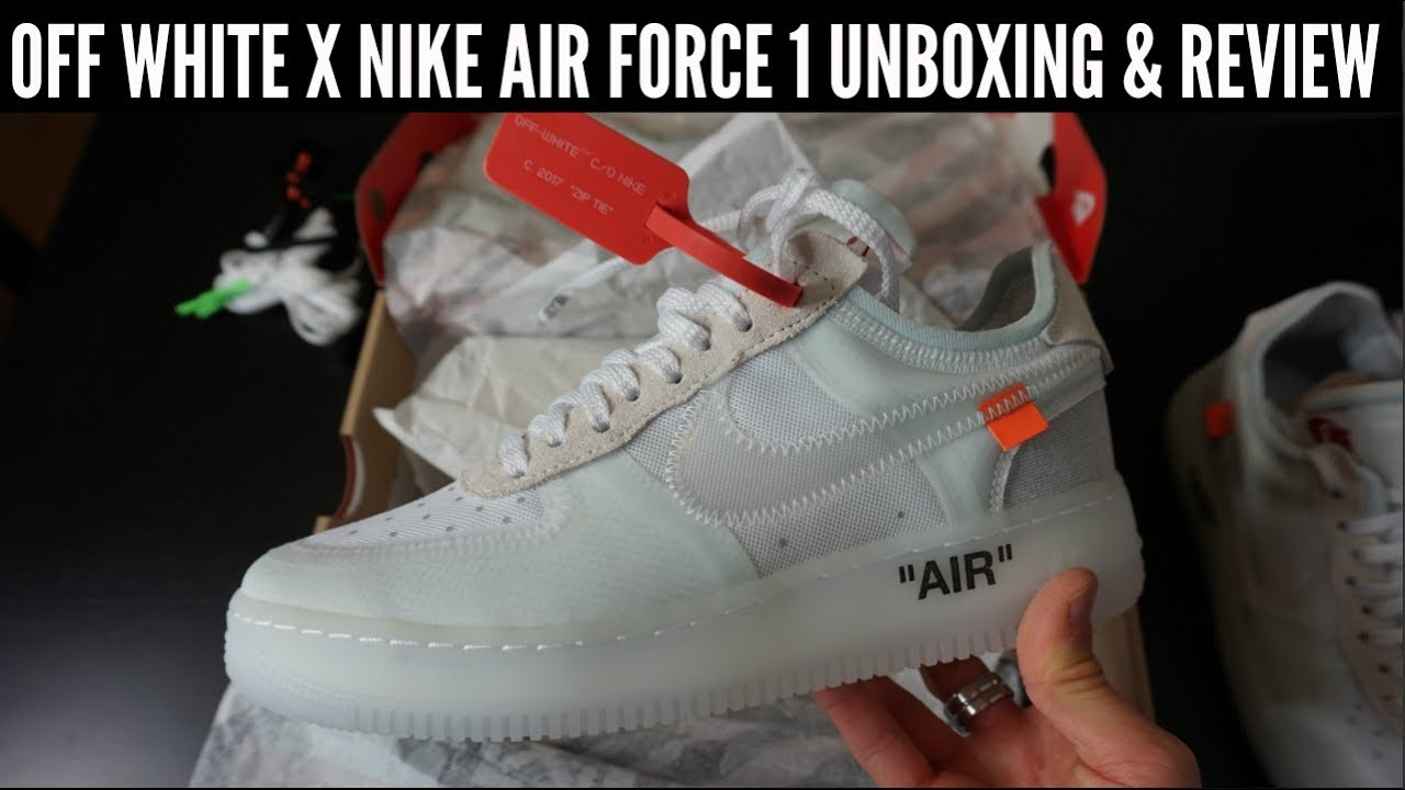 a72c0c40424f OFF WHITE x NIKE AIR FORCE 1 UNBOXING   REVIEW - YouTube