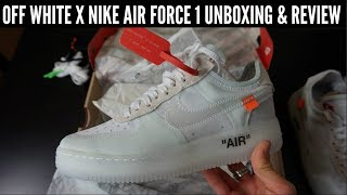 OFF WHITE x NIKE AIR FORCE 1 UNBOXING