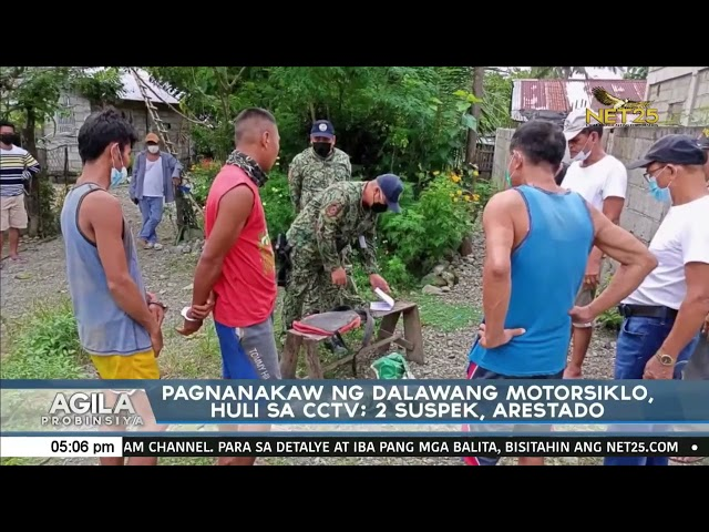 Pagnanakaw ng dalawang motorsiklo, huli sa CCTV: 2 suspek, arestado
