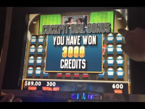 Slot machines on airplanes