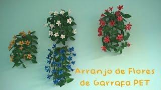 COMO FAZER – Arranjo de Flores com Garrafa PET