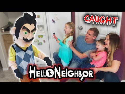 Hello Neighbor Game in Real Life! We Get Caught Breaking In His House!!!