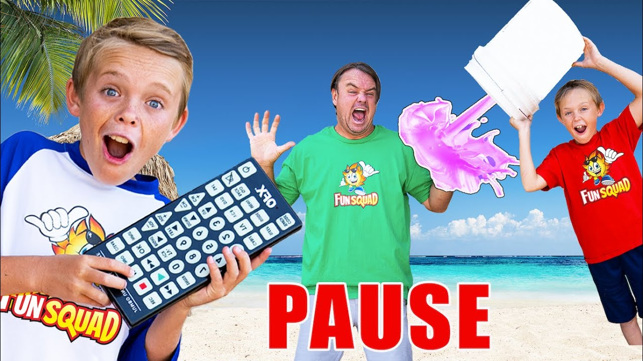 Pause Remote Challenge in Hawaii! (Sneaky Jokes on Mom and Dad)