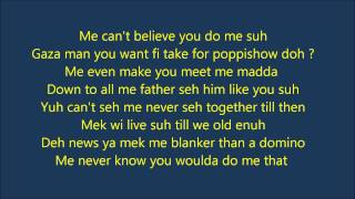 Vybz Kartel   No Games  {Official Lyrics}  Sept 2013