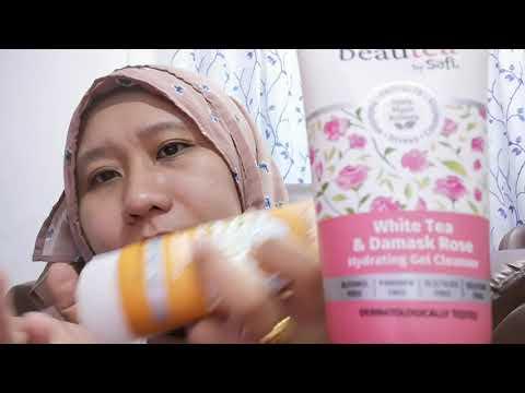CARA PAKAI BEAUTEA BY SAFI WHITE TEA & DAMASK ROSE HYDRATING GEL CLEANSER DAN APRICOT TE FACE SCRUB