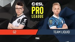 CS:GO - G2 Esports vs. Team Liquid [Dust2] Map 1 - Final - ESL Pro League Season 9