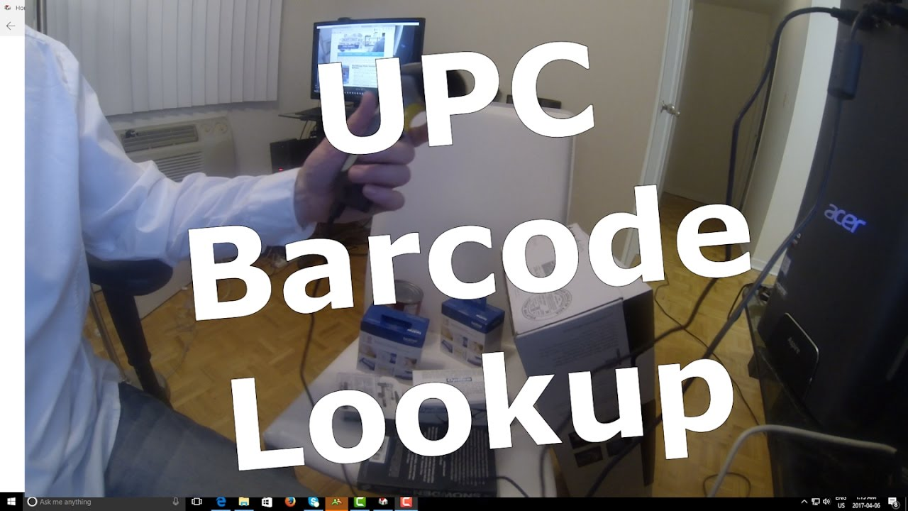 UPC Barcode Lookup For Home Inventory