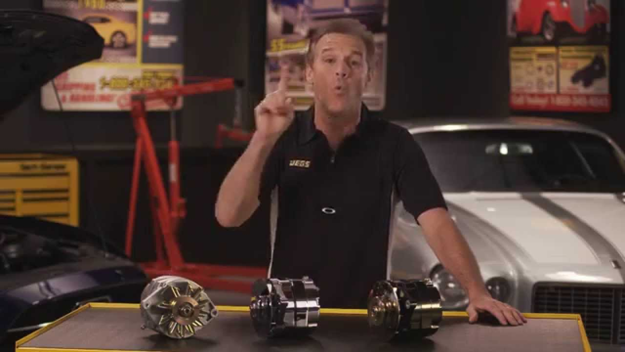 Jegs One Wire Gm Ford Alternators With Kenny Wallace Youtube Wiring Alternator