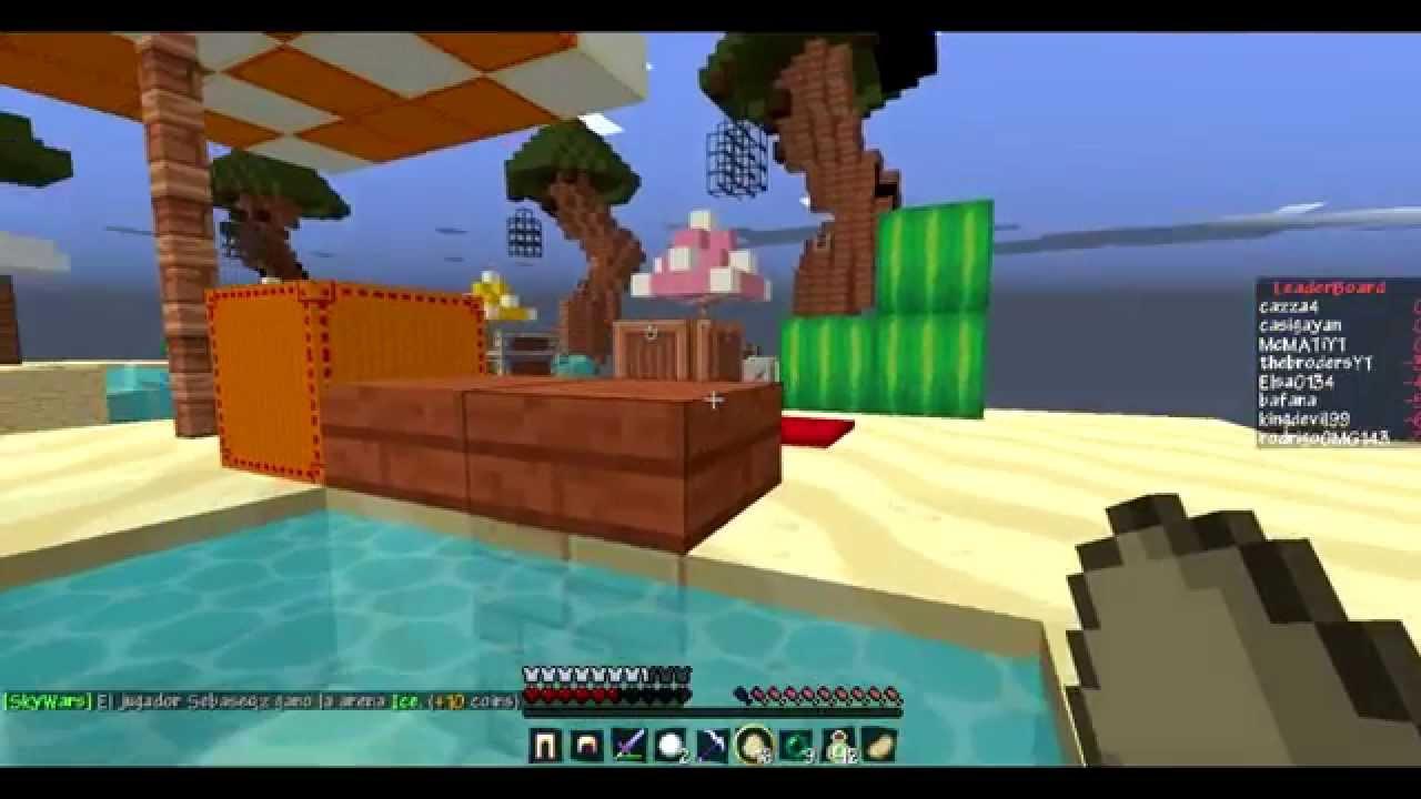 El mejor Server Minecraft 1.8 No Premium Sky Wars SIN LAG ...