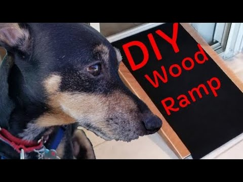 DIY Project How To Build Wooden Walk Ramp For Dexter Dog