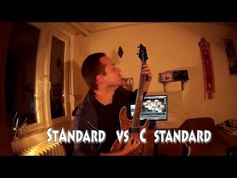 Standard E vs  Standard C Tuning
